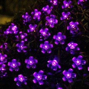LED Blumen violett