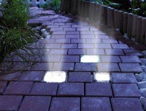 Solar Bodenleuchte LED Eisblock Lunartec